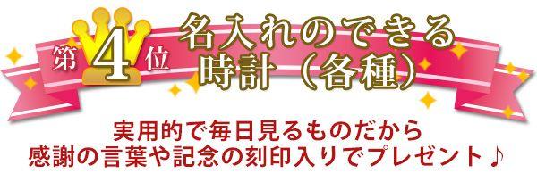 米寿のお祝い人気プレゼントランキング4位