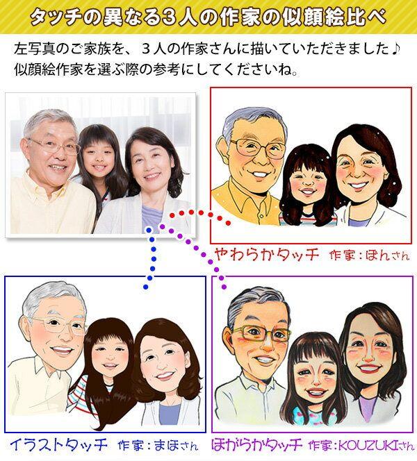 人気の似顔絵作家
